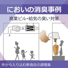 商業ビルの臭い対策【脱臭フィルターで給気のにおいをブロック】 製品画像
