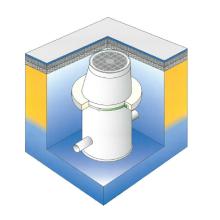 マンホール浮上抑制工法『ハットリング工法』 製品画像