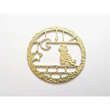 【製作事例】錫に金色のカラーマーキングし複雑形状にカット 製品画像