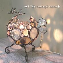 ランプ 花と蝶のランプ v100073 製品画像