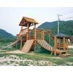 【木製】コンビネーション遊具【幼稚園、保育園、公園、遊園地など】 製品画像
