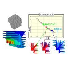 【解析事例】ヒートシンクの形状最適化 製品画像