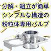 ホッパー容器の排出口に!ステンレス容器用 シャッター弁 SH 製品画像