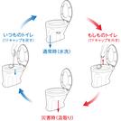 通常のトイレ⇔災害用トイレを簡単に切替られるトイレ『アルソナα』
