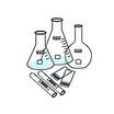 ガラス製試験容器・検査用ガラスプレート セラミックスラベル  製品画像