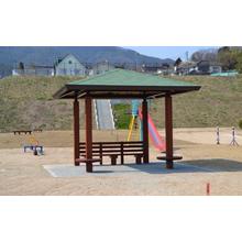 【屋外休憩施設へのご提案】再生木材「アイン・スーパーウッド」 製品画像