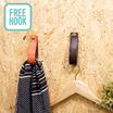 壁用フック『フリーフック』【新築・リフォーム・DIYに!】 製品画像