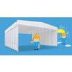 伸縮型移動開閉式テント倉庫『楽するテント』 製品画像