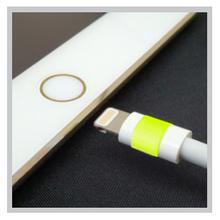 【蓄光蛍光エルクライトレモン用途事例】充電ケーブルの目印として 製品画像