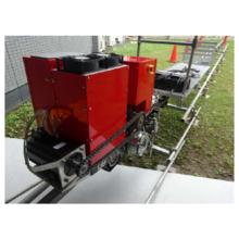 【静音・排ガスなし】電池式運搬用モノレール(回生機能付き) 製品画像