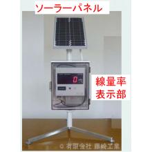 ソーラー発電器搭載 環境放射線測定器(名称未定) 製品画像