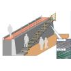 既設擁壁設置用階段『グレーチング製避難階段』 製品画像