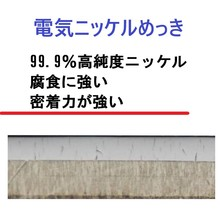 表面処理 密着力が優れている【高純度電気ニッケルめっき】  製品画像