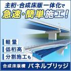 軽量・低桁高・急速施工を実現する合成床版橋『パネルブリッジ』 製品画像