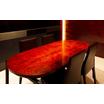 【コラボ製品】木繊セメント板の片平板に漆を塗ったテーブル 製品画像