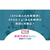 【RPA導入の失敗事例】RPA化でよくある失敗例の原因と対策は? 製品画像