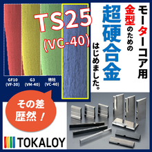 耐凝着摩耗用粗粒超硬合金『TS25』 トーカロイ 製品画像