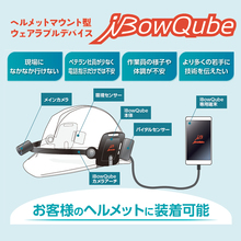 ヘルメット装着型IoTデバイス「iBowQube」 製品画像