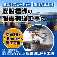 平成30年度 準推奨技術【仮締切LPF工法】CB110010VE 製品画像