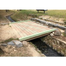 【EINスーパーウッド施工例】福島県 公園人道橋 製品画像
