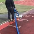 陸上競技場の復元洗浄ができる!【温水高圧 吸引一体型洗浄機】 製品画像