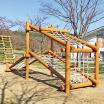 木製遊具 オーバーハングネット W-605 製品画像