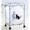 【店舗向け】分別ダストワゴン 黒猫モチーフ 製品画像