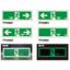 【エルティーアイ社】中輝度蓄光式誘導標識『TPSNシリーズ』 製品画像