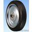 鋼板製ポリブタジェンゴム車輪(Hタイプ)シャフト径φ12 製品画像