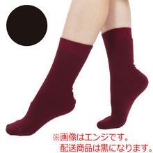 ひだまり(R) ダブルソックス 婦人用 22~24cm 黒 製品画像