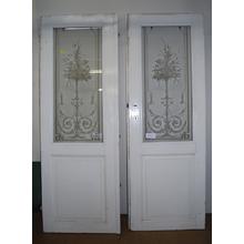 ヨーロッパエッチングアンティークドア ペア 製品画像