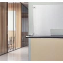 『アクリルパーテーション設置金具/透明ビニールシート吊りレール』 製品画像