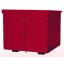 危険物大型移動保管庫(組み立て式赤色)『M2641KK-4KR』 製品画像