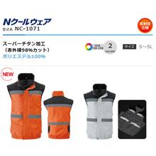 【熱中症対策】身体を冷やすベストタイプの空調服『Nクールウェア』 製品画像