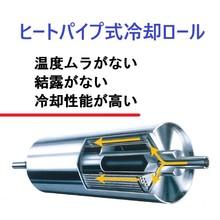 高性能冷却ロール 結露が発生しない『ヒートパイプ式冷却ロール』  製品画像