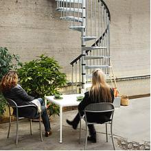 らせん階段『Civik Zink』スチール製・屋外用 製品画像