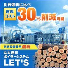 食品工場向け|原木の丸太を利用した次世代型の蒸気ボイラーシステム 製品画像