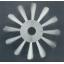 ブラシ『洗浄用高級ロールブラシ(植込み式)』 製品画像