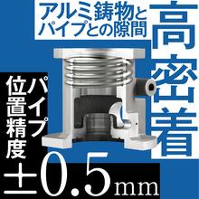 【パイプ鋳込み技術】アルミ鋳物 製品画像