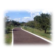 温暖化対策に最適な自然環境に調和する「木質」アスファルト舗装材! 製品画像