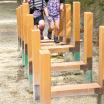 木製遊具 凹の字渡り W-055 製品画像