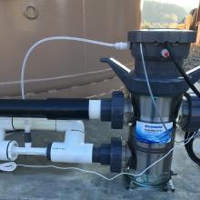 【ハイドロライト導入事例】新美里温泉2号泉 タンクの滅菌に採用! 製品画像